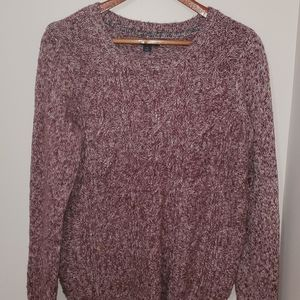 Tommy Hilfiger Purple Cable knit Crew Sweater